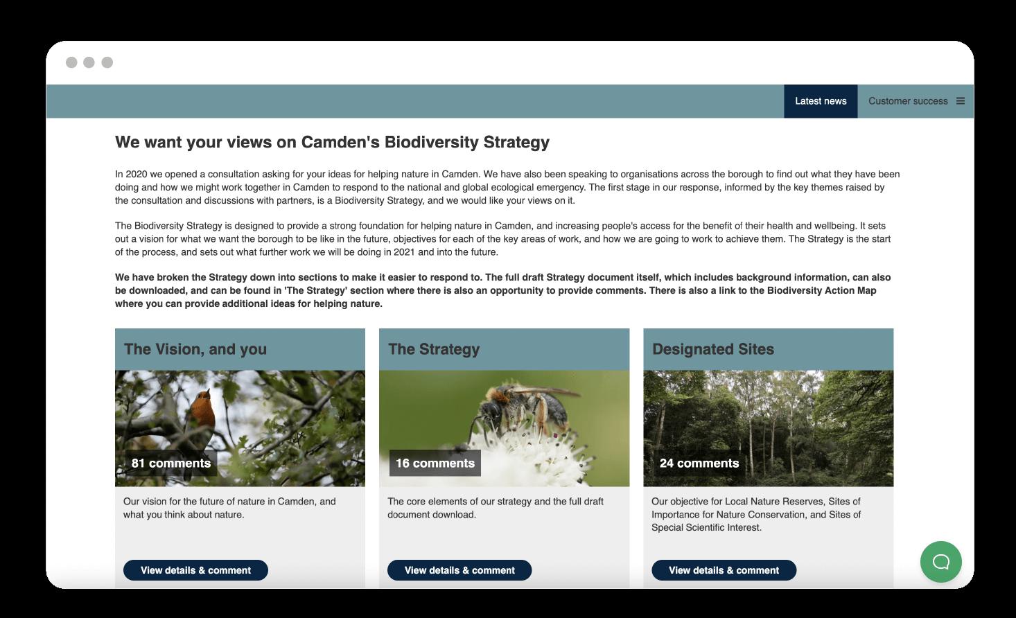 Camden Biodiversity consultation