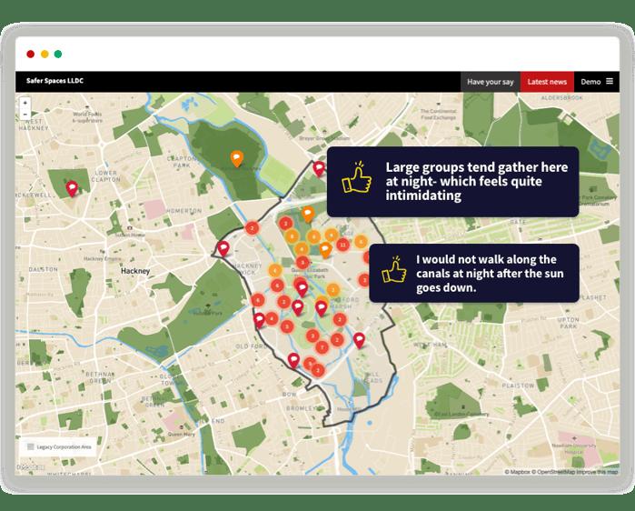 Safe Streets LLDC Heatmap