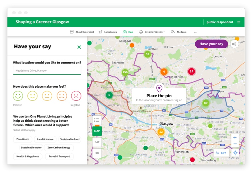 Shaping a Greener Glasgow Map