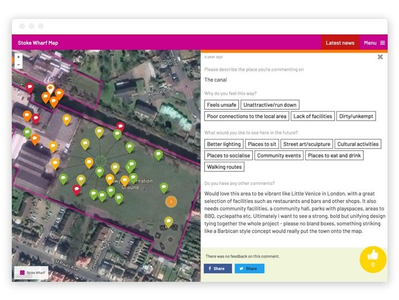 Stoke Wharf Community Heatmap